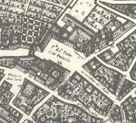Plano de Valladolid en 1738, por Ventura Seco, redibujado por Juan Agapito Revilla